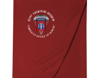 82nd Airborne Division Embroidered Blanket-3512