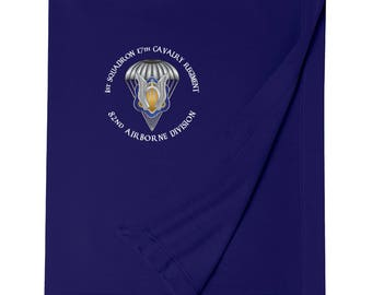 1st Squadron 17th Cavalry Regiment (Airborne) Embroidered Blanket-3436