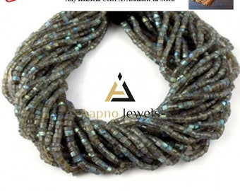 1 strand natural Labradorite beads, 3.5-4mm Labradorite beads, faceted Labradorite, rondelle Labradorite,Labradorite necklace