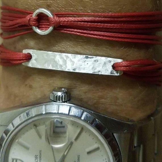 Gia: Silver, custom fitted, Greek Cord Bracelet