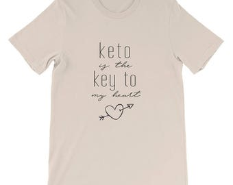 Keto Is The Key To My Heart T-Shirt, Keto Ketosis Ketogenic Diet