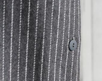 Vintage wool striped midi skirt