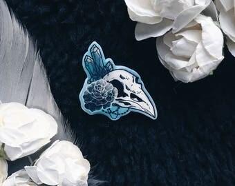 PIN, badge, Ravenskull, gothic, skull