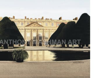 Hampton Court Palace, England. Limited edition giclée print, professionally printed in the UK using inks and paper of archival quality.