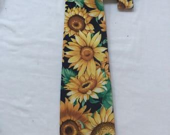 Ties Vintage Brooks Brother Sunflower Wedding