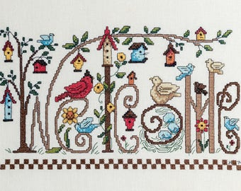 Welcome Completed Cross Stitch Wall Art