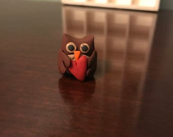 Miniature Valentine's Day Owl