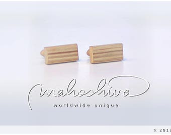 wooden cuff links wood alder maple handmade unique exclusive limited jewelry - mahoshiva k 2017-04