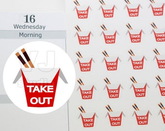 70 takeout planner sticker,eat out sticker,Chinese food takeout,planner stickers------M180P