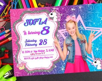 Jojo Siwa Invitation-Jojo siwa Birthday Invitation- Jojo Siwa Party -Printable-Jojo Siwa Invite Jojo Siwa Card