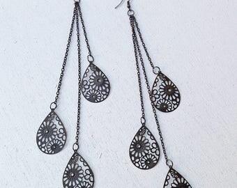 very long earrings etsy