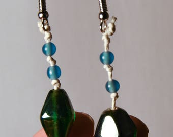 Handmade Earrings with Vintage Glass Beads