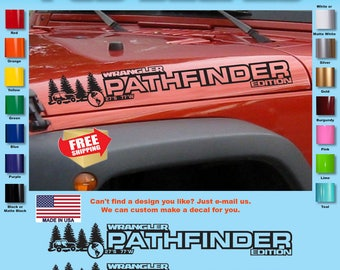 Jeep WRANGLER Mountain Hood Decal Stickers 1 Pair SH-125