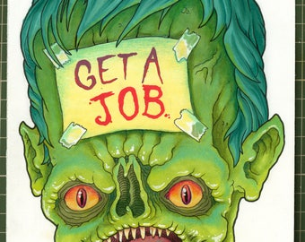 Original drawing 'Get A Job'