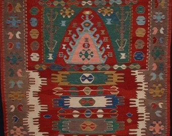 Old Central Anatolian Konya region prayer Kilim