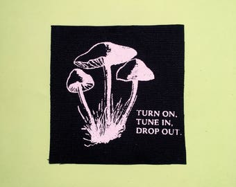 Drop Out // Screen Printed Patch