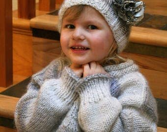 Girl's Sweater and Hat Set