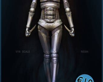 Synthea:Stealth 1/16 scale Female Assassin Droid figurine