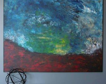 "Grounded 48""x60"" Original Acrylic Painting"