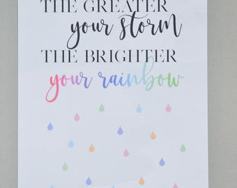 Brighter your rainbow A4 Print