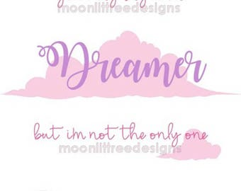 You May Say I'm A Dreamer Imagine John Lennon Lyrics Wall Art Printable Nursery Decor Customizable Instant Download