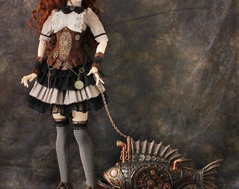 BJD STEAMPUNK CLOTHIING full set Unique bjd Outfit Clothes Doll Clothing YiD SiD Zenith