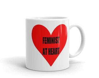 Feminist at Heart Mug