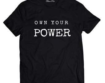Men's Black T-shirt with empowering quote (Power)