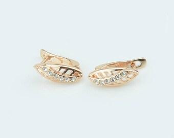 Leaf Gold Earrings