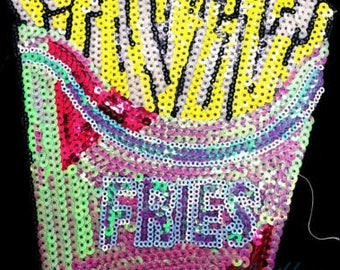 FRENCHFRY  iron on high quality  sequins / embroidered