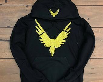 Logan Paul Maverick Bird Hoodie (Golg Glitter Logo)