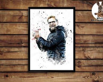 Jurgen Clopp Print  wall art home decor poster