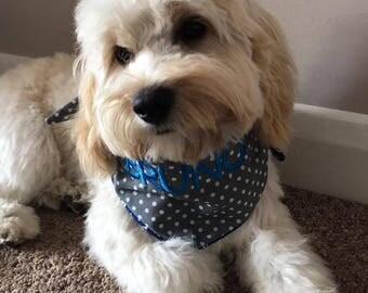 Reversible & Personalised Dog Bandanna