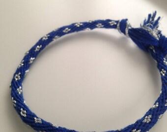 Diamond Patterned Friendship Bracelet/Anklet