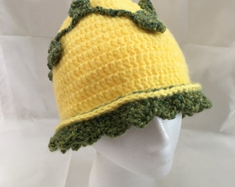 Hand Crocheted Ivy Pixie Hat, Adult