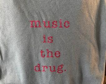 """Bassnectar's """"music is the drug"""" lyric tank"""
