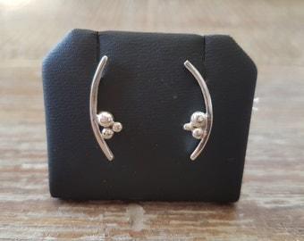 Silver Bubble Earring