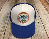"""Youth/Kids Trucker Hat- with """"Adventure Awaits&quo..."""
