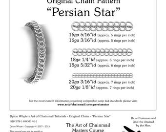 Persian Star/Chainmail/Tutorials/Dylon Whyte/Art of Chain Mail/Chainmaille (Craft Books, How to Books, DIY Crafts, DIY Books, Instructions)