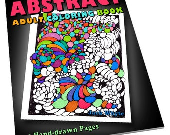 PRE-ORDER Abstract Adult Coloring Book by Whytes (Colouring Books/Coloring Pages/Adult Coloring Books/Coloring Books for Adults, Relaxing)