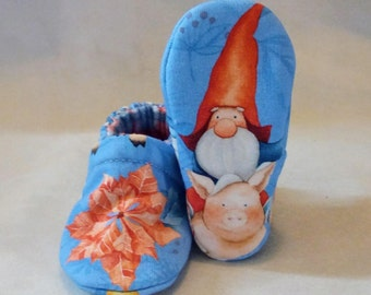 Winter Gnomes: Soft Sole Baby Shoes 0-3M