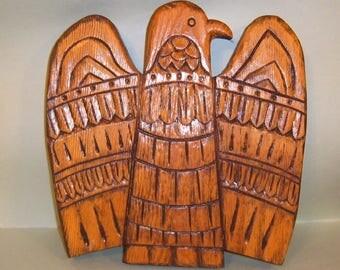 Aztec Bird Wood Carving