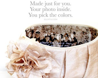 Photo Clutch Mother of the Bride Gift For Bridesmaids Bridal Party Wedding Clutch Photo Bag for Mother In Law Wedding Gift For Parents