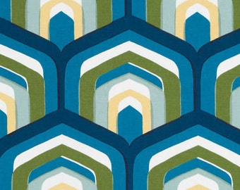 Robert Allen FABRIC - Robert Allen @Home - Piston Geo in Turquoise