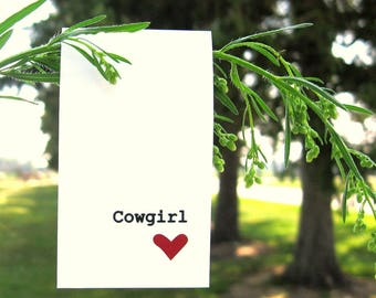 Cowgirl Magnetic Bookmark