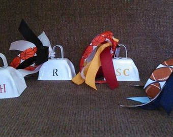 Cheer/Spirit Cowbells in Team Colors and Sport/Sport Ribbon/Noise Makers/Sports Moms