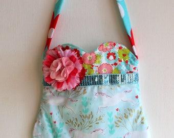 Prancing Unicorn  Purse, girls purse, toddler purse