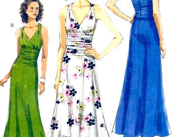 Plus size dress wedding gown Evening dress Party frock Sewing pattern Vogue 8556 Sz 16 to 22 UNCUT