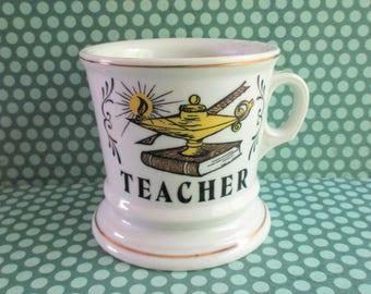 Vintage Teacher Shaving Mug
