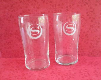 Pair of Vintage Sherton Hotel Water Glasses